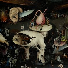 Hieronymus Bosch,detail of the garden of earthly delights