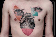 Tattoo - Matteo Cascetti Tattoo Artist Original Tattoos, Custom Tattoo, Tattoo Artists, Body Art, Skull, Heart Eyes, Tattoos, Body Mods, Skulls