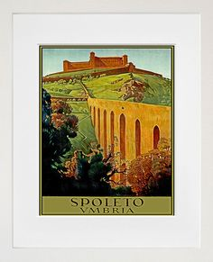 Italy Travel Print Poster Umbria Wall Art XR143 by Blivingstons, $8.99