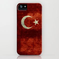The National flag of Turkey - Distressed worn version iPhone & iPod Case by Bruce Stanfield - $35.00