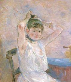 Berthe Morisot, The Bath (Girl Arranging Her Hair), Sterling and Francine Clark Art Institute, Williamstown, Massachusetts 1885-86.