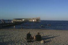 Sea bath at Kastrup beach near Copenhagen