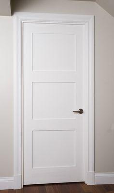 Porte 133D, panneau #3, moulure shaker option art-déco