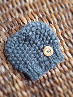 Newborn beanie hat with button by GirlyBrownOriginals on Etsy Grey Beanie, Slouchy Beanie, Beanie Hats, Newborn Beanie, Pink Camo, Cute Photos, Crochet Hats, Etsy Shop, Button