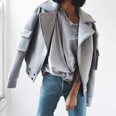 fashion, style, and grey Bild
