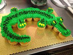 Alligator Cupcake Cake | Explore rfarmer1015's photos on Fli… | Flickr - Photo Sharing!
