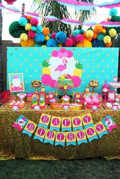 FLAMINGO Party - PINK FLAMINGO DECORATIONS - FLAMINGOS - Flamingo Birthday - Luau Party