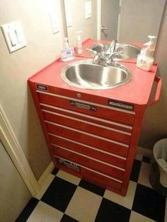 something my man would love defiantly lol this is so awesome. but only for his own bathroom lol