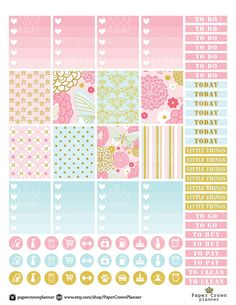 50%OFF SALE/Spring Garden Printable Weekly by PaperCrownPlanner