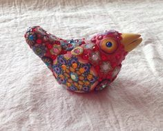 Billie+Beads+Millefiore+Small+Bird+bejeweled+with+by+BillieBeads,+$120.00