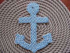 Anchor mat. Thinking bout making this for Betty. Gettin better at my paracord skills...