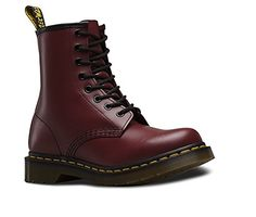 Martens Red size 7 Combat & Moto Boots at a discounted price at Poshmark. martens original 8 eye boots in maroon. Only worn once. Dr. Martens, Dr Martens 1460, Dr Martens Stiefel, Botas Dr Martens, Patent Leather Boots, Lace Up Combat Boots, Leather Lace Up Boots, Low Boots, Leather Booties
