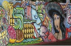 This mural by artist, El Moises can be found along the west side of Barrio Cafe on 16th Street.