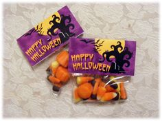 Spooky Halloween Candy  Treat Bag Toppers  DIY by PSPrintables, $3.00