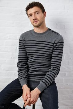 Chemise Slim Fit, Jeans Bleu, Striped Polo Shirt, Pulls, Men Sweater, Long Sleeve, Sleeves, Sweaters, Mens Tops
