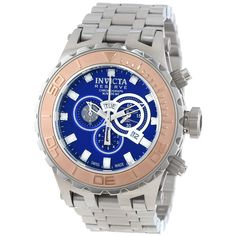Invicta 14035 Men's Subaqua Reserve Blue Dial Stainless Steel Chronograph Dive Watch,