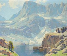 """""""Edgar Alwin Payne March 1883 – 8 April was an American Western landscape painter and muralist. Edgar Payne, Mountain Paintings, Traditional Landscape, Artist Painting, Gouache Painting, Art Reproductions, Landscape Paintings, Landscape Tattoo, Landscape Art"""