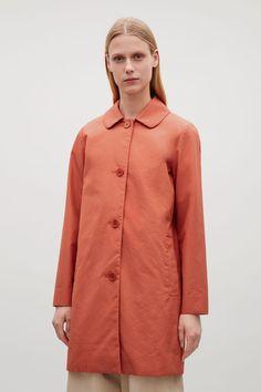 ROUNDED COLLAR COAT - Rust - Coats & Jackets - COS GB