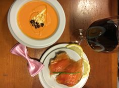 Tapas, salmon and gazpacho ~ hungry time~ see more on punkdandy instagram account
