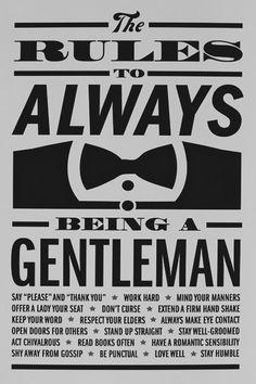 Be a gentalmen