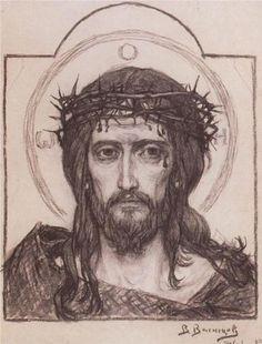 Savior+in+the+crown+of+thorns++-+Viktor+Vasnetsov