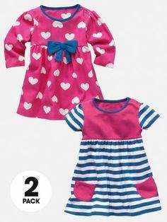 LadybirdMaritime Baby Girls Dresses (2 pack)