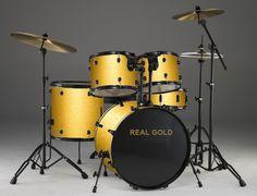 Image Detail for - Vintage Gold Drum Set