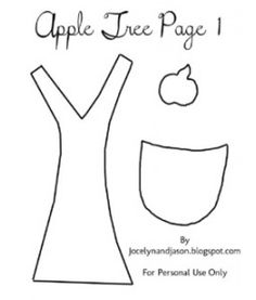 Apple Tree Quiet Book Page Template
