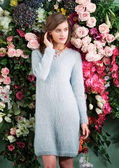 LANG GENSER Nr 1 Lang genser i dobbel Silk Mohair Vanskelighetsgrad: Enkel