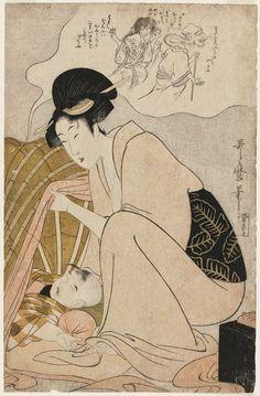Child's Nightmare of Ghosts Kitagawa Utamaro I about 1800–01 (Kansei 12–Kyôwa 1) La Marquise de Carabas