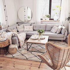 New Living Room Grey Couch Modern Texture Ideas Living Room Furniture, New Living Room, Living Room Scandinavian, Trendy Living Rooms, Room Inspiration, Living Room Grey, Rustic Living Room, Rugs In Living Room, Living Room Designs