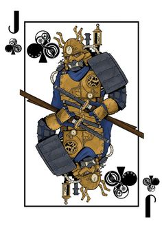 The Deck of Amazing Adventurers is a fully custom 56 card steampunk themed Bicycle® playing card deck