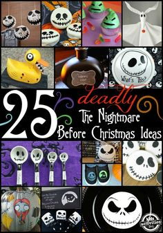 Amazing crafts, DIY and food ideas for The Nightmare Before Christmas.