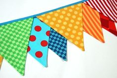 Summer Carnival Birthday Banner Circus Bunting by BlueMoonStudios, $32.00