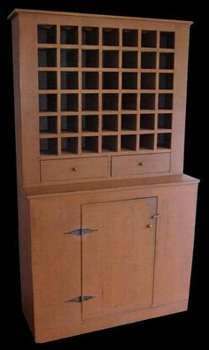 Primitive wine cupboard by The Maine Pie Safe Company