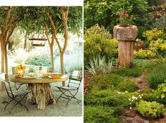 Turn one into a table, a planter, or just cover it in moss and flowers to make it look pretty.