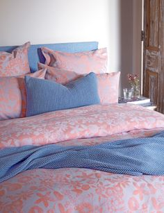 Modern flower coral bedding