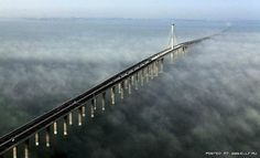 In the Chinese province of Shandong is a bridge across the Gulf of Jiaozhou . The bridge length over 36 km is calculated for eight car lanes, and is the longest sea bridge in the world