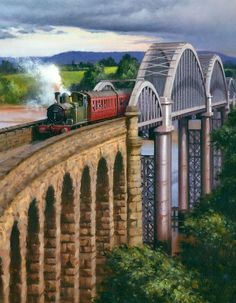 Railway Paintings by Rob Rowland GRA Ho Scale Train Sets, Ho Scale Trains, Transport Pictures, Nostalgic Art, Steam Railway, Train Art, Railway Posters, British Rail, Canal Boat