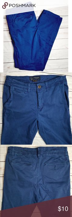 American Eagle Men's Active Flex Navy Blue Pants Mens american eagle outfitters active flex navy blue pants    Size 32x32    Used  Material : cotton , elasten  BUNDLE TO SAVE 15%  Open To Offers ✨ American Eagle Outfitters Pants Chinos & Khakis