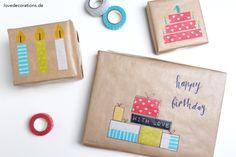 DIY Geschenkverpackung Washi Tape