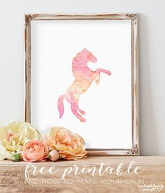 How to Make a Watercolor Printable in Photoshop + Free Horse Printable | We Lived Happily Ever After | Bloglovin