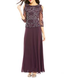 b545d932738 Shop for Pisarro Nights Beaded Bodice Cold Shoulder Gown at Dillards.com. Visit  Dillards