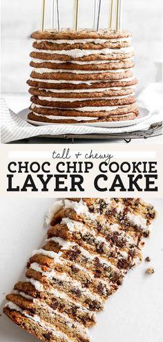 Fun Baking Recipes, Best Dessert Recipes, Fun Desserts, Sweet Recipes, Delicious Desserts, Cookie Cake Recipes, Delicious Cookies, Yummy Treats, Sweet Treats