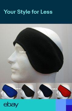 f22b2ef9a5c MEN WINTER FLEECE STRETCH SKI HEADBAND EAR WARMER - BLACK RED NAVY BLUE GRAY