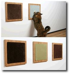 DIY wall mounted cat scratchers