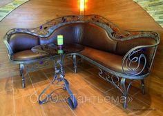 Wooden Pallet Furniture, Iron Furniture, Steel Furniture, Furniture Making, Furniture Design, Wrought Iron Bench, Steampunk Furniture, Steel Art, Iron Work