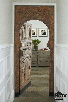 Beautiful hard wooden maroccan door
