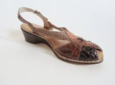 1940s Dress Shoes  Peep Toe Wedge Sandals in by 4birdsvintage, $95.00*******MOM, YOU HAD WHITE SANDALS SIMILAR TO THESE!