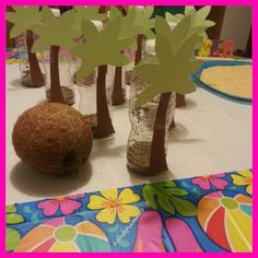Coconut Bowling luau party